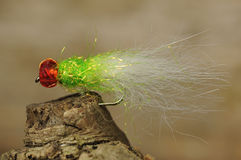 Fishing bait. Little colorful hand made fishing bait Stock Image