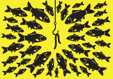 Fishing Bait Vector Illustration Royalty Free Stock Photography
