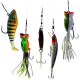Fishing baits Stock Image