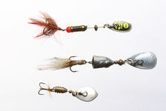 Fishing baits Stock Photography