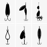Fishing baits Royalty Free Stock Image