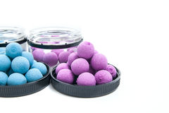 Fishing baits for carp. Fishing boilies for big carp fishing on Royalty Free Stock Images
