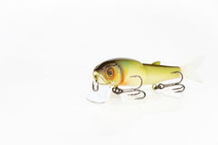 Fishing baits and gear for catching predatory fish. Located on a white background Royalty Free Stock Photo