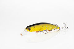 Fishing baits and gear for catching predatory fish. Located on a white background Stock Images