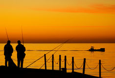 Fishing at Balitc Sea Stock Photo