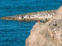 Fishing at Banzai Cliff Royalty Free Stock Photography