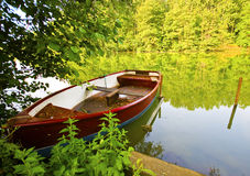 Fishing bark boat Royalty Free Stock Images