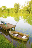 Fishing bark boat Stock Photo