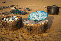 Fishing basket Royalty Free Stock Photography