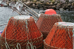 Fishing Basket Traps Stock Photo