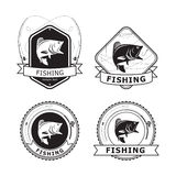 Fishing Bass Label, vector Stock Photos