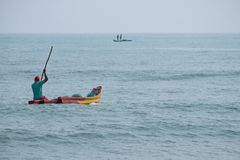 Fishing in the Bay of Bengal Stock Image