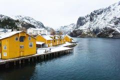 The fishing bay of Lofotens Stock Photography
