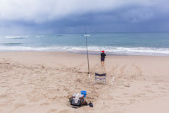 Fishing Beach Ocean Holidays Royalty Free Stock Images