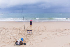 Fishing Beach Ocean Holidays Royalty Free Stock Photography