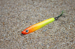 Fishing. Beautiful, colorful Fishing lure, handiwork Stock Photo