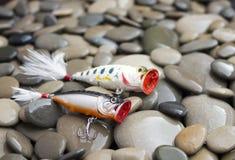 Fishing. Beautiful, colorful Fishing lure, handiwork Stock Image