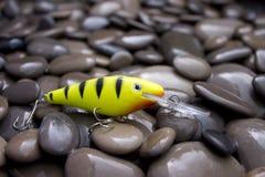 Fishing. Beautiful, colorful Fishing lure, handiwork Stock Images