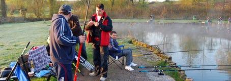 Fishing in Belgium editorial Stock Images