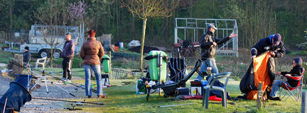 Fishing in Belgium editorial Stock Photos