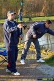 Fishing in Belgium editorial Stock Photography