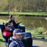 Fishing in Belgium editorial Royalty Free Stock Photo