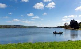 Fishing at Blagdon Lake Somerset Somerset England UK south of Bristol Royalty Free Stock Image