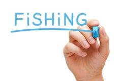 Fishing blue marker Stock Photo