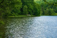 Fishing in the Blue Ridge Mountains royalty free stock photos