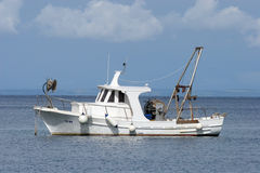 Fishing boat. A fishing boat in harbour Stock Photos