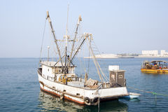 Fishing boat. Old fishing boat floating in the sea Royalty Free Stock Photos