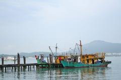 Fishing Boat. At Dock in Pangkor, Malaysia Stock Photography