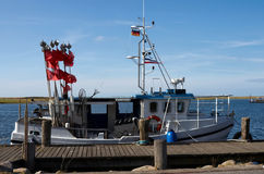 Fishing boat. In harbour Germany Royalty Free Stock Photos