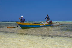 Fishing boat. On the Togians Islands (Indonesia Stock Photography