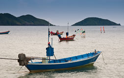 Fishing boat. At Chao Lao Beach Chantaburi Thailand Stock Photo