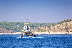 Fishing Boat. Commercial fishing boat in the Adriatic sea Royalty Free Stock Photography