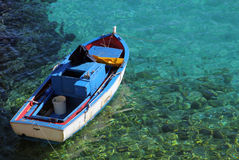 Fishing boat. Typical sicilian fishing boat moored in port Royalty Free Stock Image