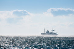 Fishing boat. Fishing vessel on the high seas Royalty Free Stock Photos
