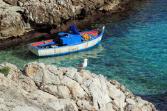 Fishing boat. Typical sicilian fishing boat moored in port Royalty Free Stock Images