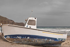 Fishing boat. In the Isleta del Moro Stock Photo
