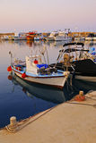 Fishing boat. Colorful fishing boat at a port Royalty Free Stock Images