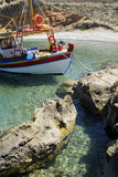 Fishing boat. At the east coast of Crete Greece Stock Photography