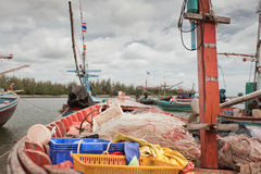 Fishing boat. On the beach, Thailand Royalty Free Stock Image