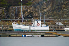 Fishing boat. Moored at the pier. The picture is snapped 21/12-2011 Stock Image