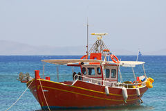 Fishing boat. Greek fishing boat in the sea Stock Photography