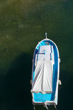 Fishing boat. Blue fishing boat seen from above Royalty Free Stock Photos