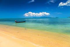 Fishing boat. In the sea Stock Photo