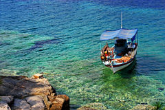 Fishing boat. Near Alyki beach, Thassos, Greece Royalty Free Stock Photography