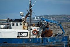 Fishing boat. In port of Aran Island in Ireland Royalty Free Stock Image