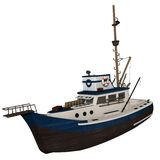 Fishing Boat. 3d illustration of a fishing boat Stock Photo